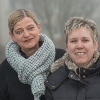 Martina Hacker und Birgit Reinhard